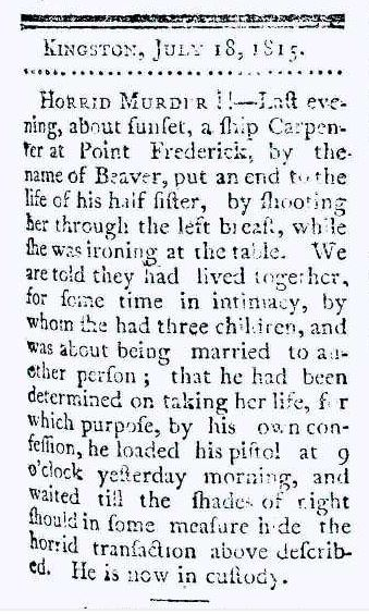 Kingston Gazette, July 18, 1815