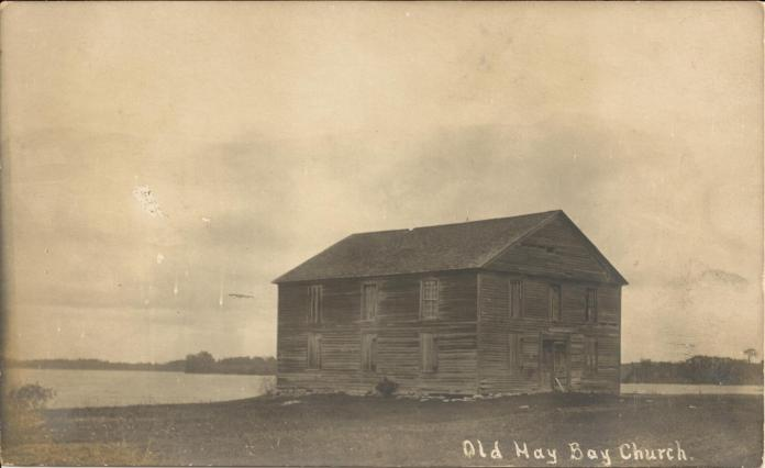 Old Hay Bay Church c. 1908. Deseronto Archives, from the collection of Kenneth Brown. (click image to go to source)